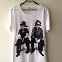 Johnny depp & Tim burton Movie Star Pop Rock T-Shirt M