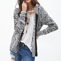FOREVER 21 Marled Knit Hoodie