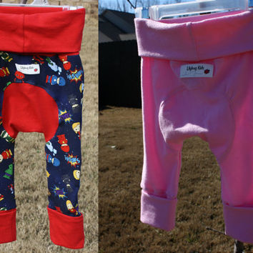 Custom Maxaloones, choose size and fabric, cloth diaper pants, grow with me pants,  made to order