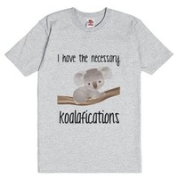 Koalafications-Unisex Dark Ash T-Shirt