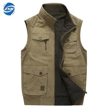 Zuoxiangru Hiking Tactical Vest Fishing Vest Men's M-6xl Multi Pockets Photography Jacket Camping Multi-pockets Hunting Vest