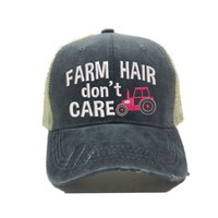 """""""Farm Hair Don't Care"""" Tractor Trucker Hat"""