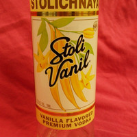 20 Ounce Pure Soy Candle in Reclaimed Stoli Vanil Liquor Bottle - Your Choice of Scent