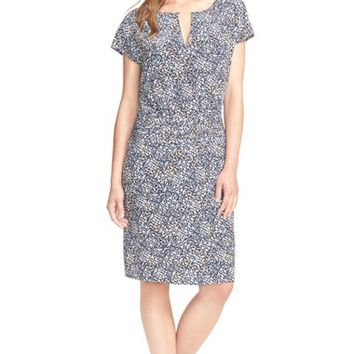 Women's Tory Burch Floral Print Kimono Sleeve Silk Dress,