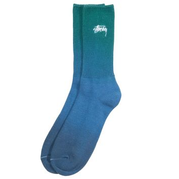 Dip Dye Marl Socks in Green