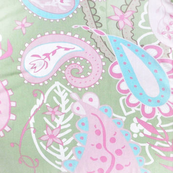 Pixie Baby in Pink Paisley Fabric by the Yard | 100% Cotton