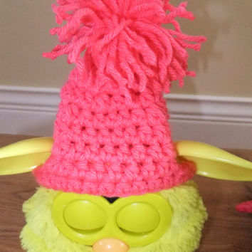 Furby Toque and Cape Crochet Pattern - Furby Crochet Pattern - Doll Crochet Pattern