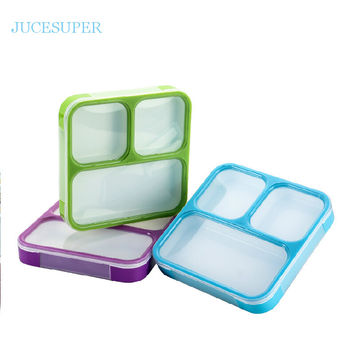 Japan Style Ultra-thin Seal Sets Portable Collar Ruled Student Microwave Lunch Box Plastic Fashion Lunch Tray