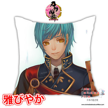 New Touken Ranbu Anime Male Dakimakura Square Pillow Cover Custom Designer Rokudo-Aurora ADC144