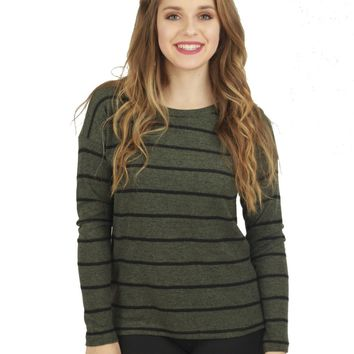 Talia Striped Sweater Top