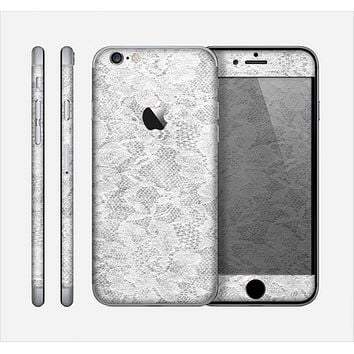 The White Textured Lace Skin for the Apple iPhone 6
