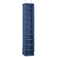 Indigo 10-Compartment Hanging Shoe Bag