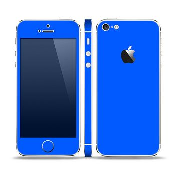 The Solid Blue Skin Set for the Apple iPhone 5