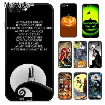 MaiYaCa Nightmare Before Christmas alloween High Quality phone case for Apple iPhone 7plus 8 6 6S Plus X 5 5S SE 5C case shell
