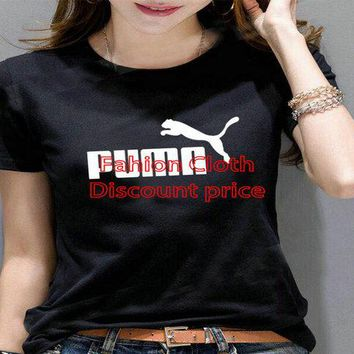 Puma New Style T-Shirt For Women M--2X 2018 Spring Clothes Black