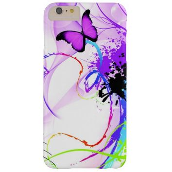 Colorful Purple Butterfly Barely There iPhone 6 Plus Case