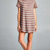 Pumpkin Spice Striped Dress