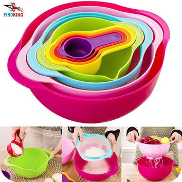 FINDKING 8 in 1 Kitchen Bowl and Measuring Cup Set