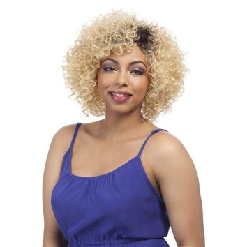 Short Curly Full WIG,  IRON FRIENDLY (TASIA)