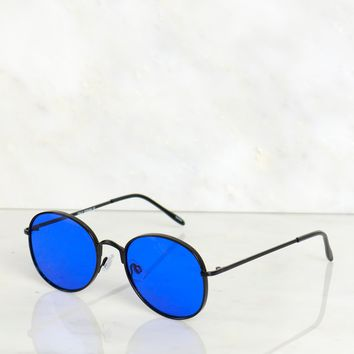 Statement Sunglasses Blue