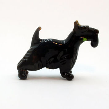 Glass Scotch Terrier Glass Dog Glass Animal Sculpture Glass Figurine Glass Figure Glass Animals Glass Figurines Glass Figures Dog(07)