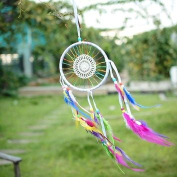 Rainbow Weave Boho Dreamcatcher