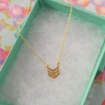 SALE - Gold Chevron Dainty Necklace, Women's Necklace, Danity Necklace, Minimalist Necklace, Bridesmaid Gift, Birthday Gift
