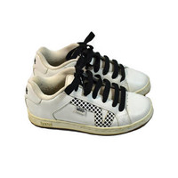 Vintage Vans Sneakers Polka Dot Sneakers Skate Board Sneakers White Black Tennis Shoes