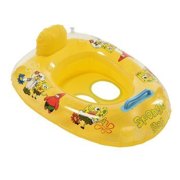 1PCS Cute Cartoon Swim Pool Water Sports Inflatable Float Swimming Laps Rings Baby Boys Girls Seat Boat Toys