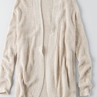 AEO Oversized Plaid Blazer, Grey | American Eagle Outfitters