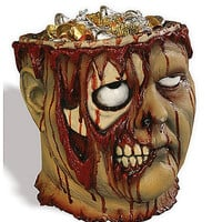 Bleeding Zombie Head Bucket - Spirithalloween.com