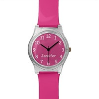 CHOOSE YOUR COLORS Your Text Custom Watch Pink FUN