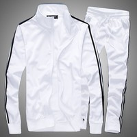 Men's casual fashion Slim New Korean fashion stand collar leisure sport  tracksuits hoodies suits