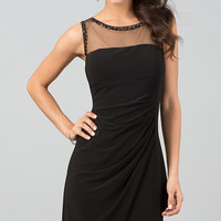 Knee Length Sleeveless Ruched Dress
