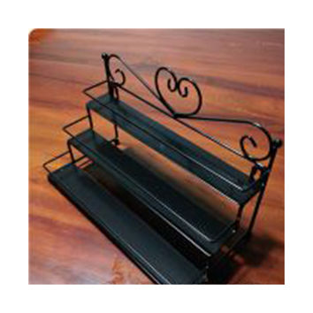 Iron Nail cosmetics jewelry display shelves shelves shelves three perfume factory outlets    black
