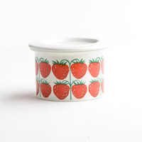 Vintage Arabia Finland strawberry jar – Arabia Pomona – Arabia jar with lid