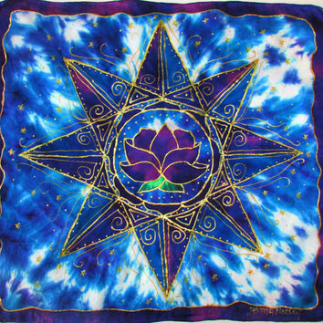 altar cloth, Universal Consciousness, card reader cloth, crystal grid, sacred geometry, lotus art, mandala, mandala art, spiritual