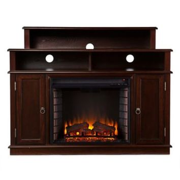 Lynden Media Console Electric Fireplace in Espresso