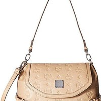 DCCK7J3 MCM Womens Essential Monogrammed Leather Small Crossbody