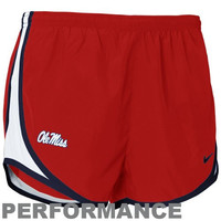 Nike Mississippi Rebels Ladies Cardinal Dri-FIT Tempo Performance Training Shorts