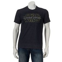 STAR WARS The Force Awakens LOGO T-Shirt EPISODE VII Disney Empire Jedi (S-XXL)