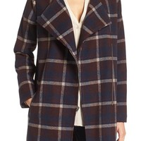 cupcakes and cashmere 'Renley' Plaid Notch Collar Coat | Nordstrom