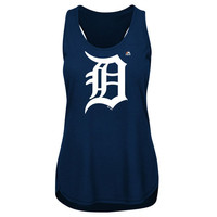 MLB Detroit Tigers Women's Plus Size Primary Logo Tank Top