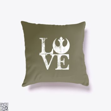 Love Of Rebellion, Star Wars Throw Pillow Cover