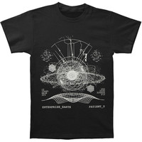 Enterprise Earth Men's  Space T-shirt Black