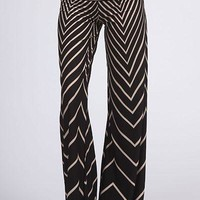 One & Only Chevron Palazzo Pants