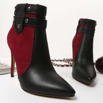 Pointed Toe Ankle Boots | High Heel Ankle Boots