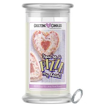 You're A Pizza My Heart! | Jewelry Greeting Candles