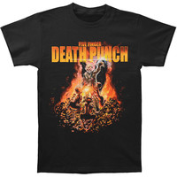Five Finger Death Punch Men's  Purgatory T-shirt Black Rockabilia