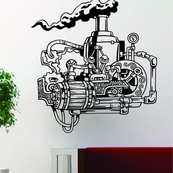 Gears V5 Steampunk Machine Design Decal Sticker Wall Vinyl Decor Art